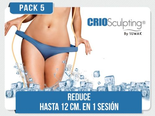 PACK 5 - CRIOSculpting® 02 zonas S/.1000